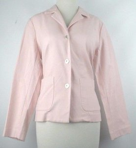 Eileen Fisher Eileen Fisher Pm Pink Three Silver Button Blazer B145