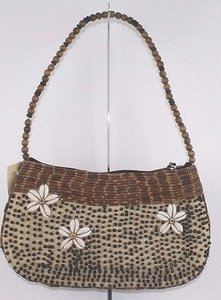 Mido Collection Cream Ethnic Beaded Evening B200 Multi-Color Clutch