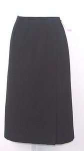 Other Jabe By Behar Vintage Faux Wrap Lined Wool Pencil B164 Skirt Black