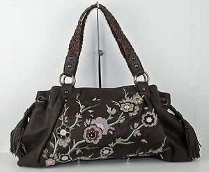Isabella Fiore Satchel in Brown Lavender