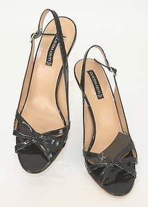 Claudia Ciuti Fanya 9m Patent Leather Adjustable Strap Heel B305 Black Pumps