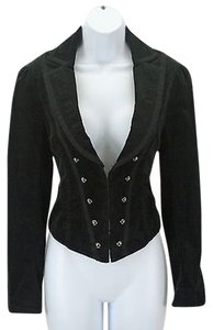 White House | Black Market White House Black Market 0 Black Romantic Corset Lace Up Button Blazer B247