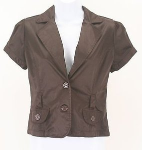 Ashley By 26 International Sateen Short Sleeve B308 Brown Jacket