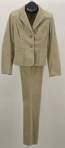 INC International Concepts Inc Jacket Pant Soft Tan Pinwale Corduroy Pant Suit B121