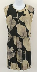 Other No Label Black Tan Taupe Sleeveless V Back Short Bubble B303 Dress