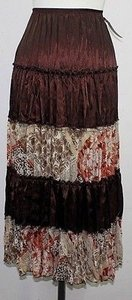 Kiwi Multi Tiered B84 Skirt Brown