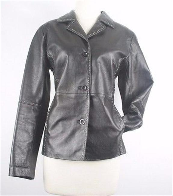 Other Bt Limited Lightweight Cream Topstitch B151 Black Jacket