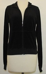 Juicy Couture Black Velour Zip B104 Sweatshirt