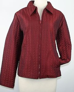 Notations Burgundy Quilted Red Jacket
