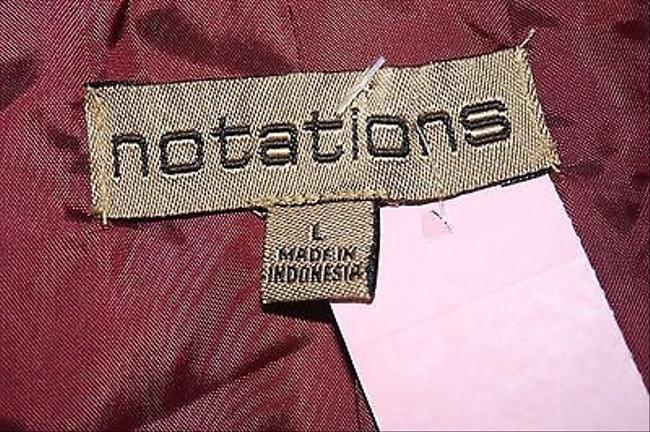 Notations Burgundy Quilted Zip Front B170 Red Jacket