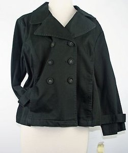 Sonoma Double Breasted 34 Sleeve B173 Black Jacket