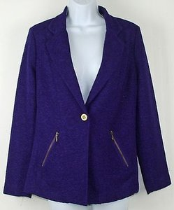 Chico's Chicos 0 Purple Bronze Blazer B239