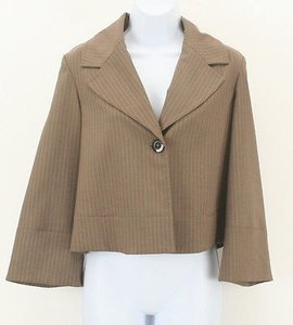 Kenneth Cole Kenneth Cole Reaction Light Brown Tan Pinstriped Blazer B313