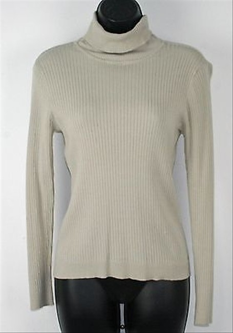 Chico's 0 Taupe Long Sleeve Turtleneck B238 Top Brown