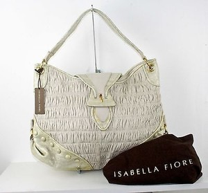 Isabella Fiore Off Gold Croc Slylar B228 Hobo Bag