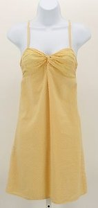 Forever 21 short dress Yellow White Mini Polka Dot Lined Sun B36 on Tradesy