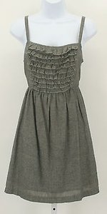 Be Bop short dress Gray Ruffle Front 12 on Tradesy