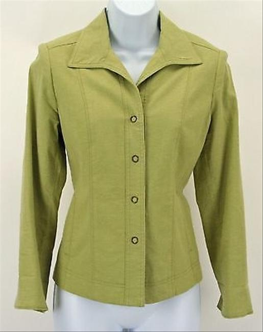 Preload https://item4.tradesy.com/images/rqt-rqt-petite-6p-lime-green-button-down-blazer-b307-5822728-0-0.jpg?width=400&height=650