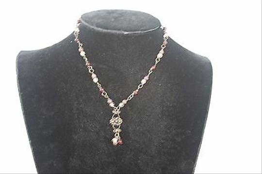 Other Burgundy Brown Clear Bead 14 Necklace Bj1