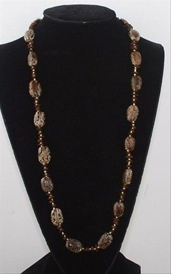Other Brown Seed Bead 28 Necklace Bj1