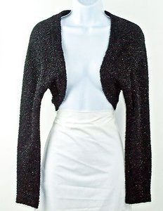 Barbara Lesser Shimmer Long Sleeve Short Bolero Cardigan B198 Sweater