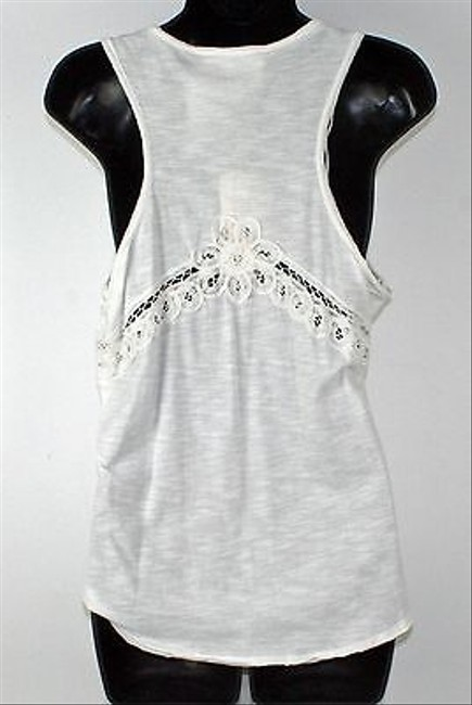 Vince Camuto Two By Vince Back Lace Inset B247 Top White