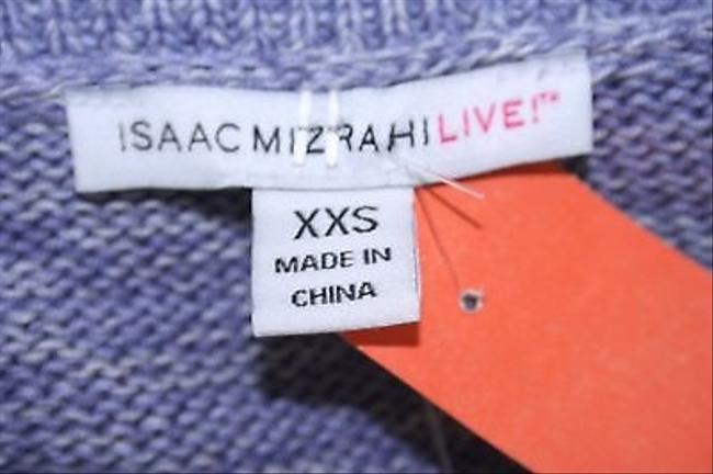 Isaac Mizrahi Live Lavender Belted Ss Cardigan B263 Sweater