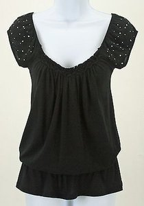 Express Rhinestone Top Black