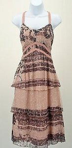 Other Rangoon Mauve Back Laced Boho Evening Tiered Elegant B267 Dress