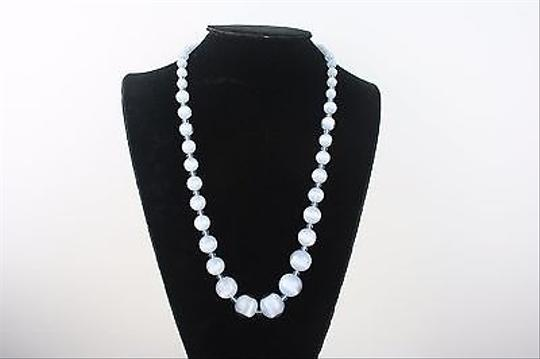 Other Light Blue Ombre Moonstone Graduated Glass Beads 23 Necklace Bj1