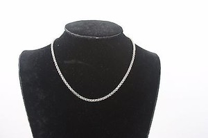 Silver Box 16 Chain Necklace Bj1