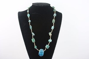 Other Turquoise Gold Tone 24 Necklace Bj1