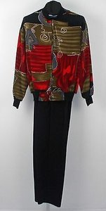 Cascais Top Oversize Pant Black Red Green Grey Sporty Pant Suit B204
