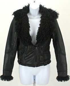 Cache Curly Faux Fur Motorcycle Jacket