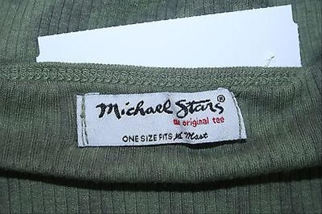 Michael Stars Green Camouflage B253 Top Multi-Color