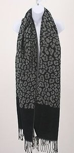 Chico's Chicos One Black Gray Animal Print Wrap B253