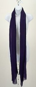 Chico's Chicos Black Label Nosz Royal Purple Scarf B253