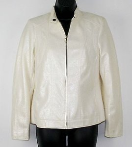 Chico's 0 Cream Snake Skin B260 Ivory Jacket