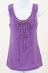 Apostrophe Piece Deep Lavender Bronze Beads Necklace B263 Top
