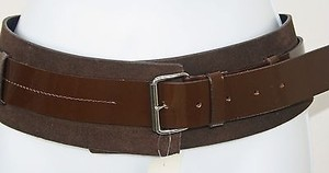 Kenneth Cole Kenneth Cole 3 Brown Leather Patent Belt B181