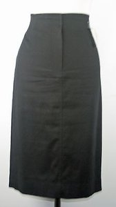 Ellen Tracy Blend Pencil B153 Skirt Black