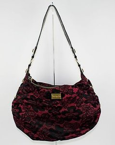 Betseyville Black Pink Gold Studs B178 Shoulder Bag