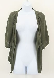 89th & Madison Olive Open Shaped Knit Cardigan B334 Sweater