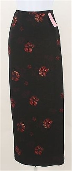 Amanda Smith Red Wrap B335 Skirt Black