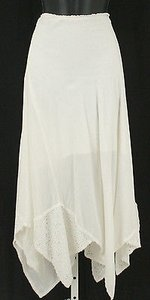 Ann Ferriday Boho One 30w Off Lace Asymmetrical B339 Skirt White