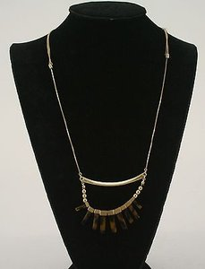 Other Goldtone Adj 19 Box Chain Cats Eye Amber Brown Agate Necklace Bj09