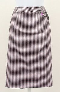 Worth Coffee Bean Lavender Checks Straight B292 Skirt Multi-Color