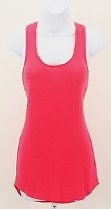 Ella Moss Soft Ribbed B292 Top Coral
