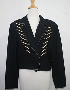 Other Frontier North American Western Bone Tube Studded B07 Mt Black Jacket