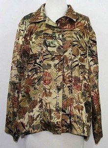 Chico's Chicos 1 Gold Copper Red Multi-Color Jacket